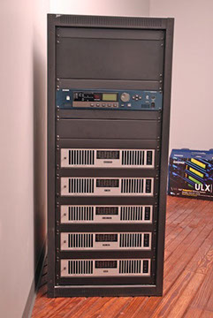 Sound system equipment rack