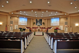 Church sound, video projection and lighting control